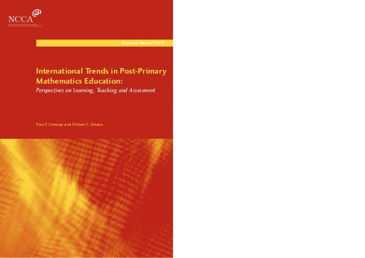 Research Report No.5                                                 Post-Primary Mathematics Education                   ...