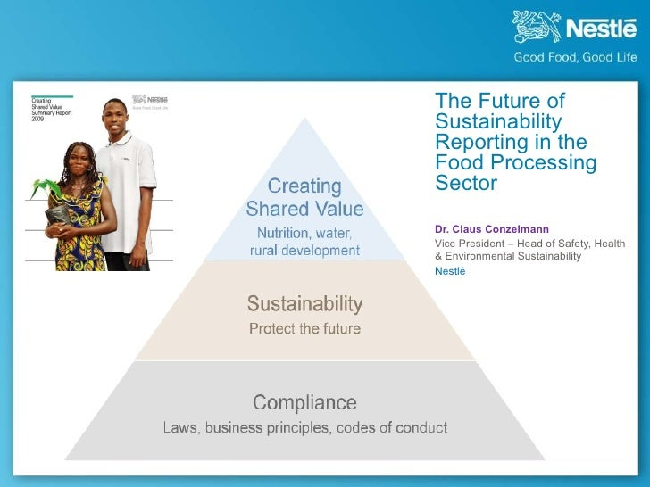The Future of Sustainability Reporting in the Food Processing Sector, Presented by Conzelmann