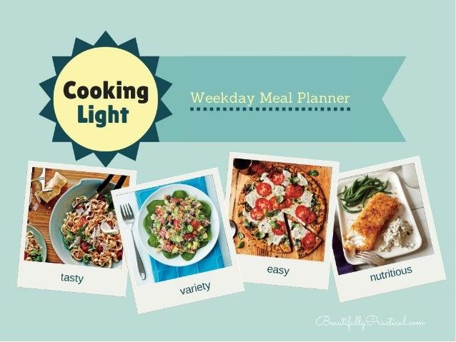 Cooking Light Weeknight Menu Planner