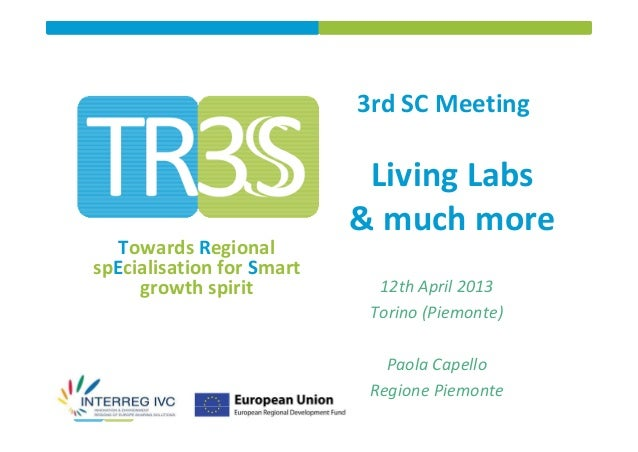 Living Labs and the ALCOTRA INNOVAZIONE Strategic Project