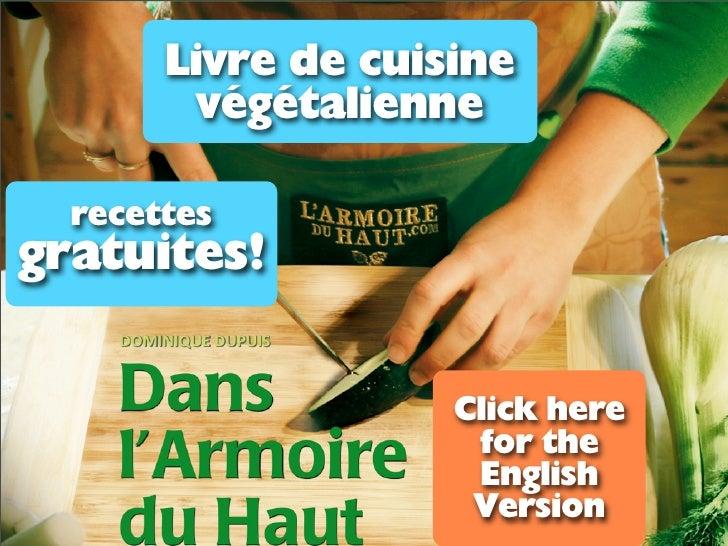 Livre de cuisine         végétalienne  recettesgratuites!                    Click here                     for the       ...