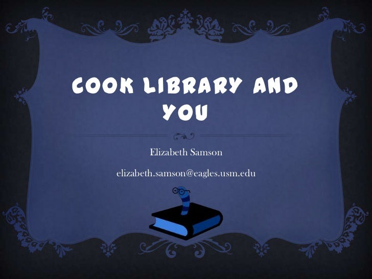Cook library and you