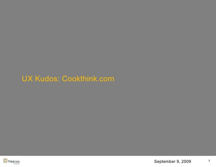 Cook Think Ux.090909