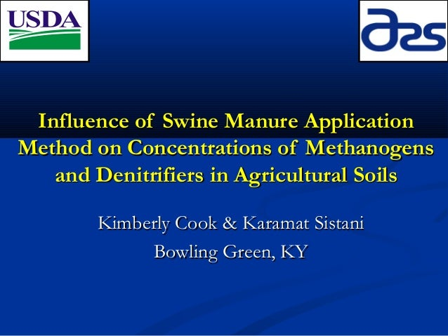 Influence of Swine Manure Application Method on Concentrations of Methanogens and Denitrifiers in Agricultural Soils