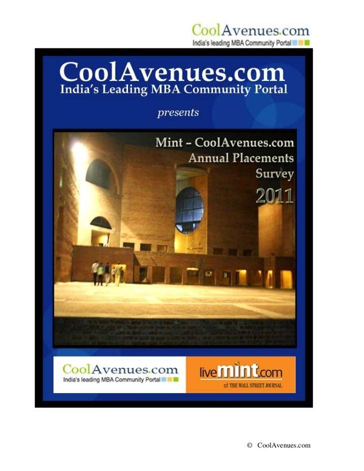 CoolAvenues B-school Placements Survey 2011