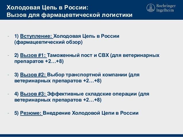 Холодовая Цепь в России: Вызов
