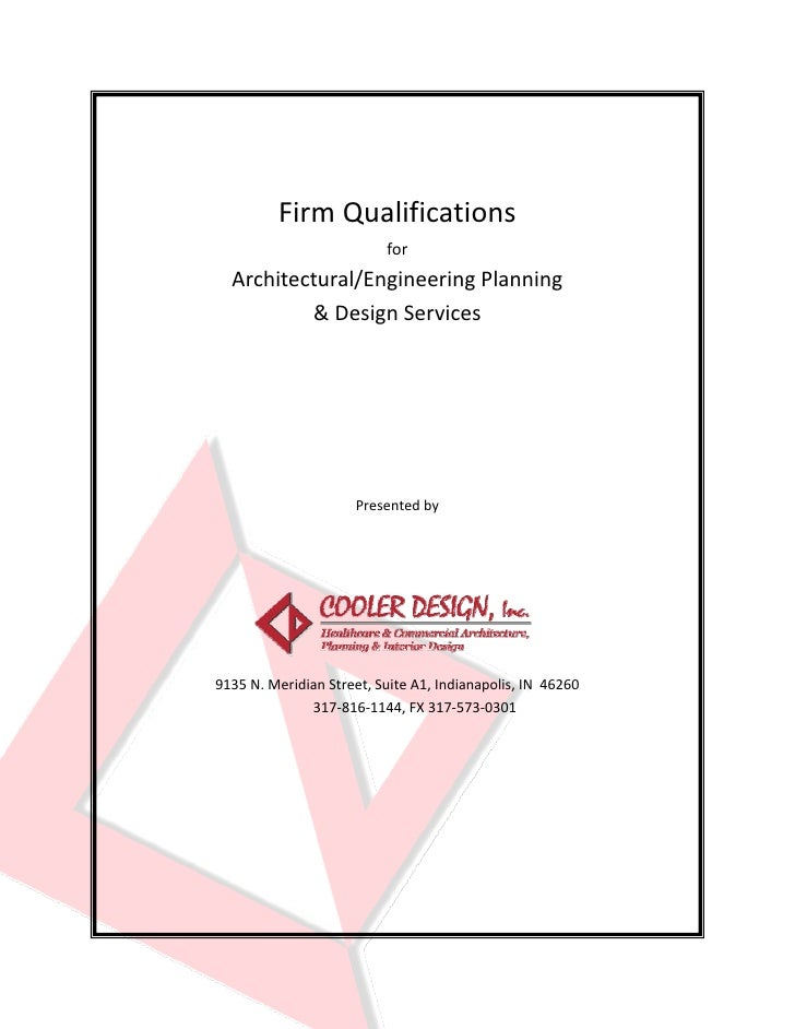 Firm Qualifications                                 for        Architectural/Engineering Planning                 & Design...
