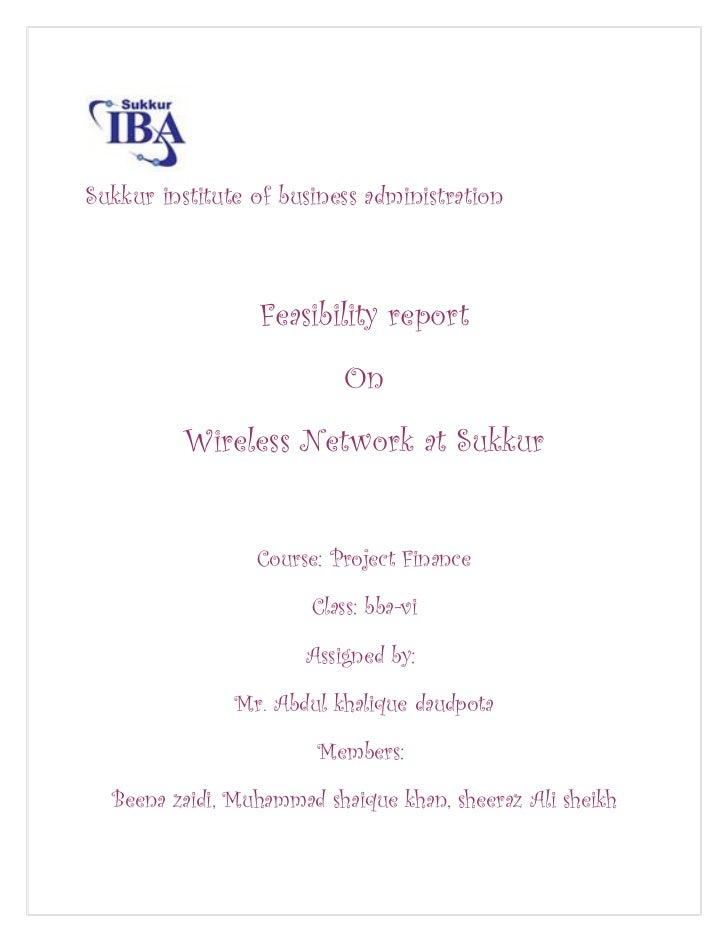 Sukkur institute of business administration                 Feasibility report                           On          Wirel...