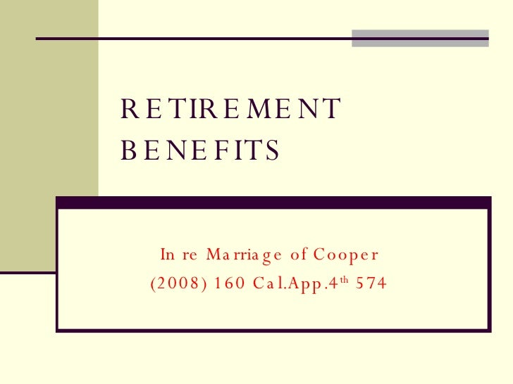 Dividing CalPers Retirement Benefits