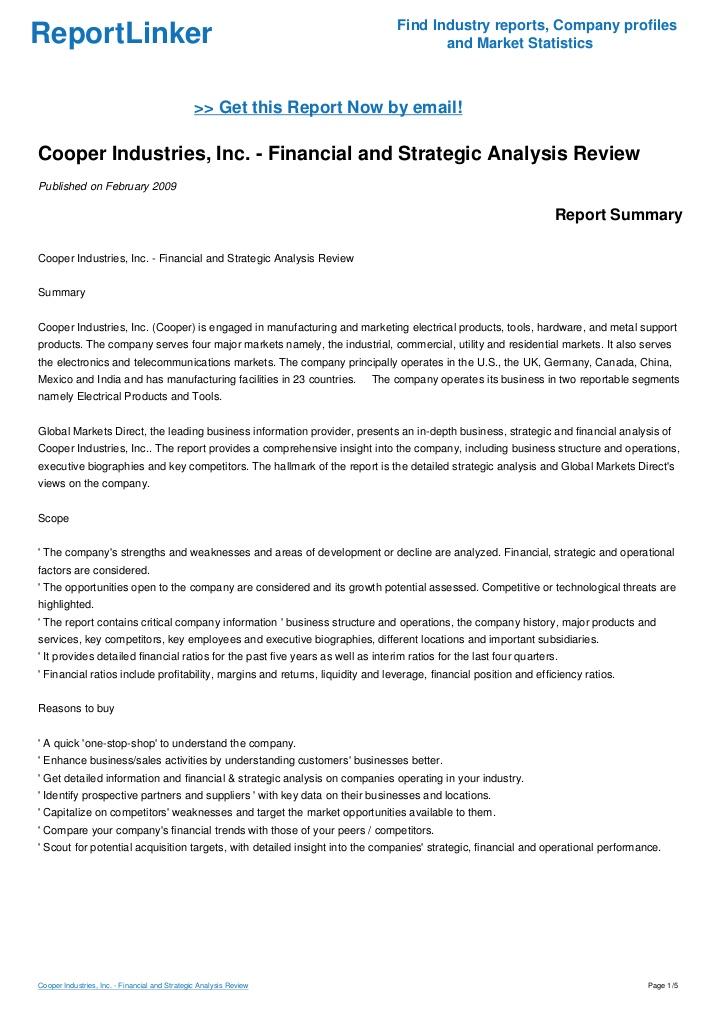 cooper industries case