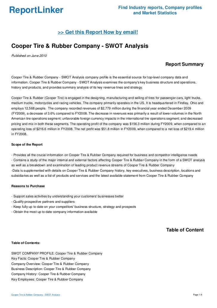 case study cooper tire and rubber company Cooper tire & rubber company: 701 lima ave findlay, oh 45840-2388 (419)429-6721 : charging party union nlrb representation case-procedures fact sheet.