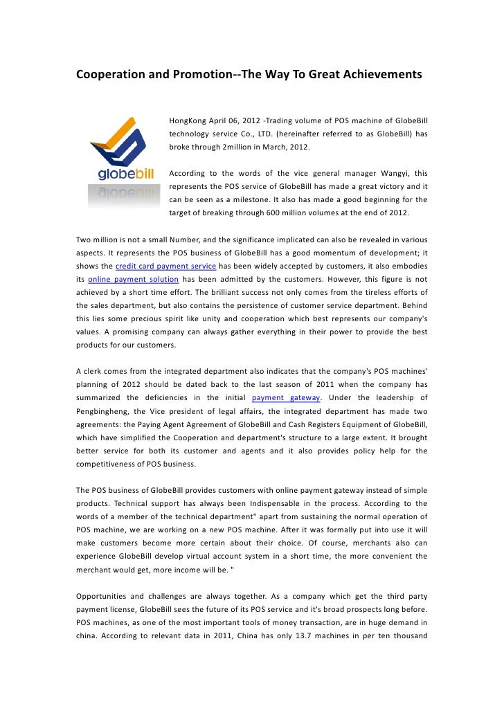 Cooperation and Promotion--The Way To Great Achievements                          HongKong April 06, 2012 -Trading volume ...