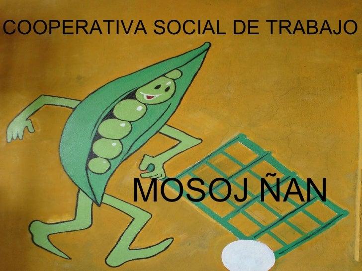 COOPERATIVA SOCIAL DE TRABAJO <ul><li>MOSOJ ÑAN </li></ul>
