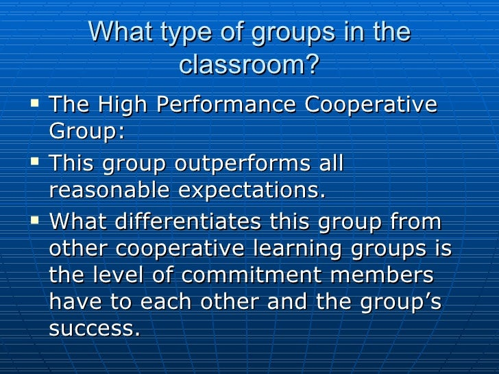 Collaborative Structures In The Classroom : Cooperative learning