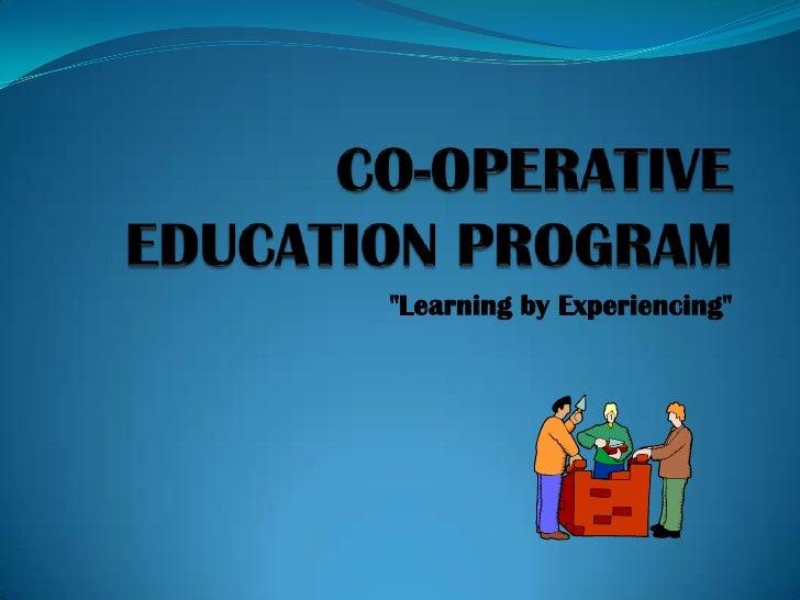 Cooperative education presentation[1]