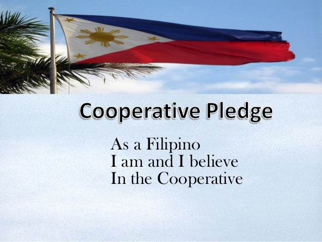 As a Filipino I am and I believe In the Cooperative