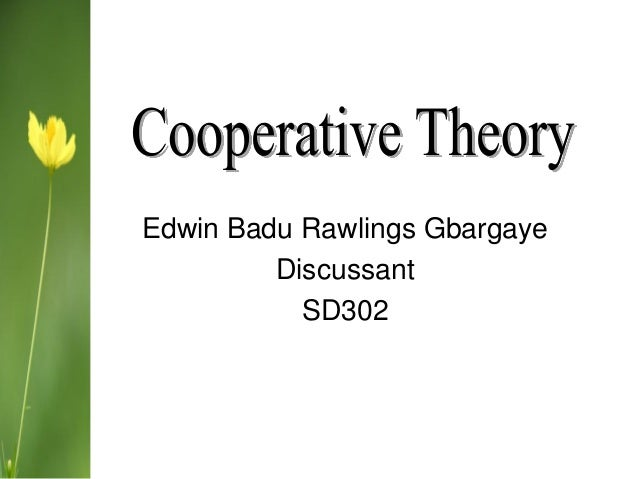 Cooperative Theory  SD 302