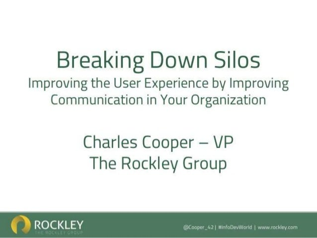 Breaking down silos improving the user experience