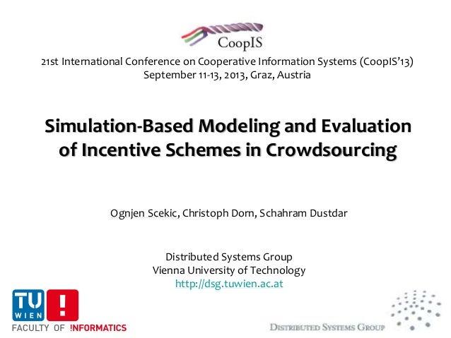 21st International Conference on Cooperative Information Systems (CoopIS'13) September 11-13, 2013, Graz, Austria Ognjen S...