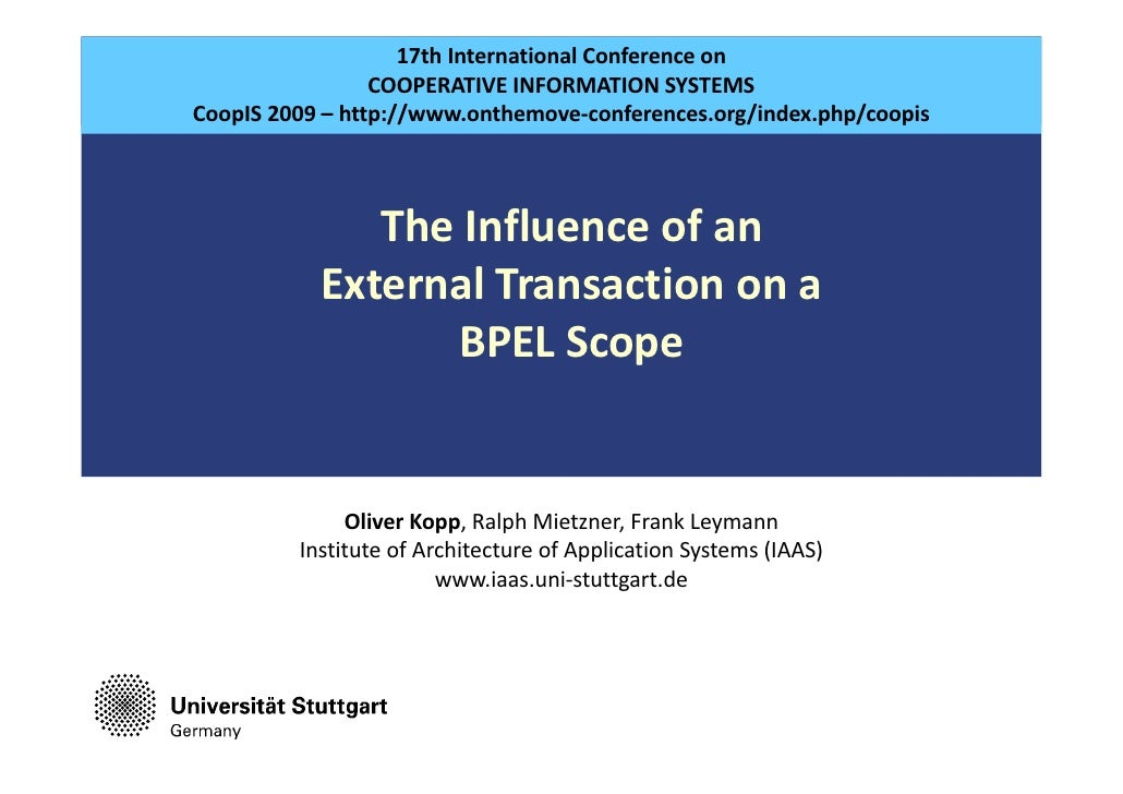 17thInternationalConferenceon                                  COOPERATIVEINFORMATIONSYSTEMS                 CoopIS 2...
