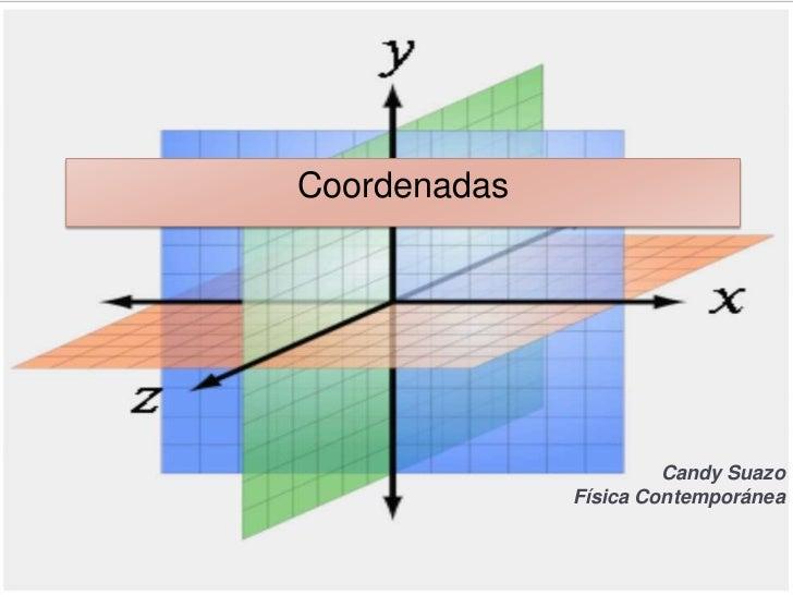 Coordenadas                       Candy Suazo              Física Contemporánea