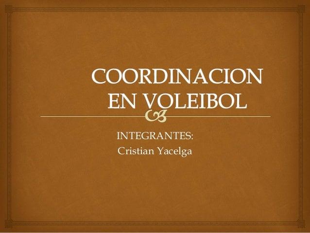 Coordinacion en voleibol