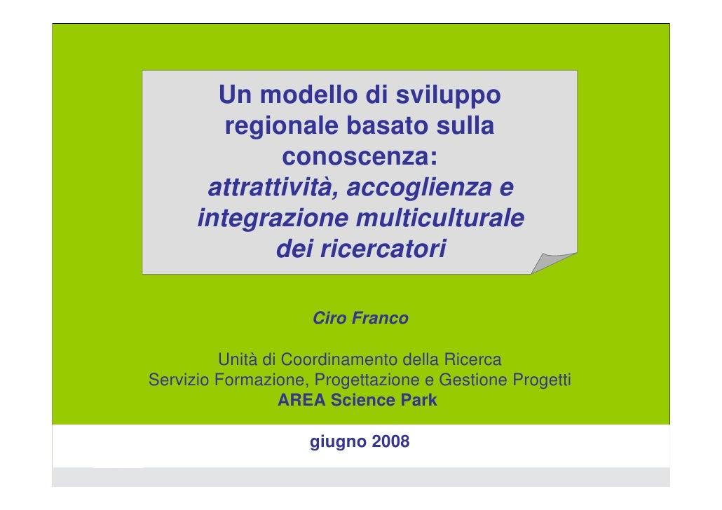 AREA Science Park: nuovo modello di sviluppo della ricerca regionale