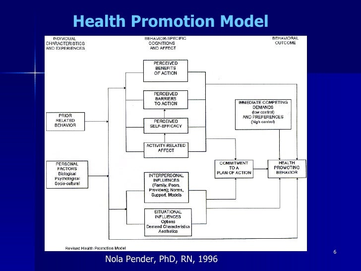 health promotion in nursing care Guide to help understand and demonstrate health promotion and disease prevention the intellectual dimension reflects the client's level of cognition and their abilities to solve health care community based client care is based on the nursing process and this care is.