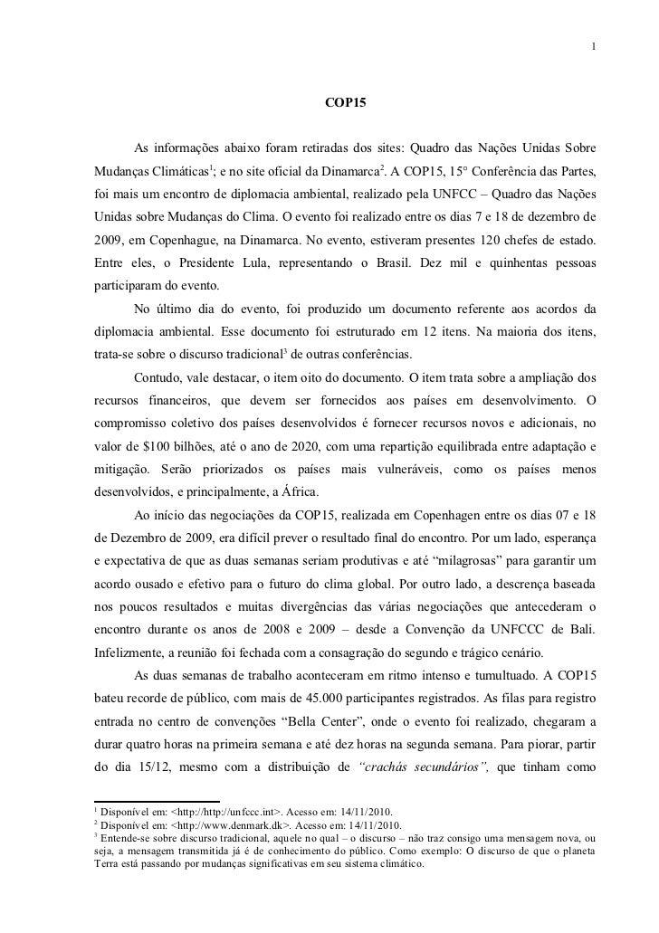 1                                                  COP15        As informações abaixo foram retiradas dos sites: Quadro da...