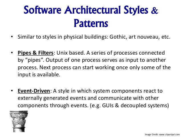 Pattern Architecture Software Software Architectural Styles