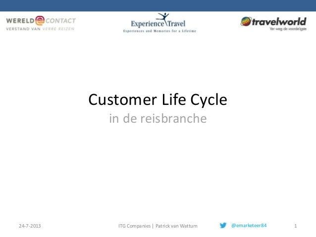 Customer Life Cycle in de reisbranche 24-7-2013 ITG Companies | Patrick van Wattum 1@emarketeer84