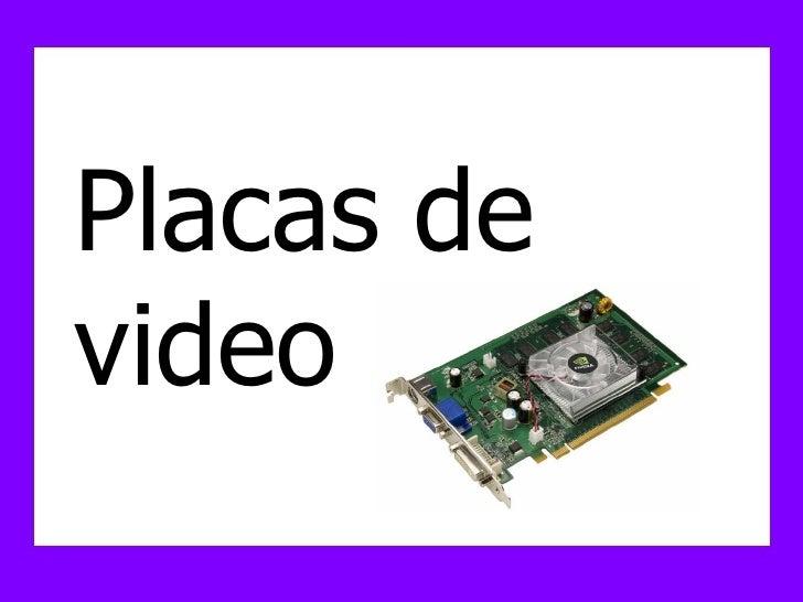 Hardware  De Placas De Video Y Audio