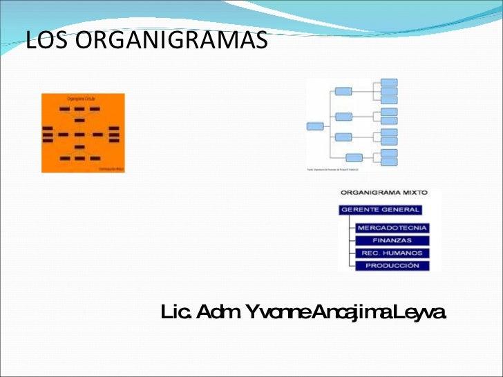 LOS ORGANIGRAMAS <ul><li>Lic. Adm. Yvonne Ancajima Leyva. </li></ul>