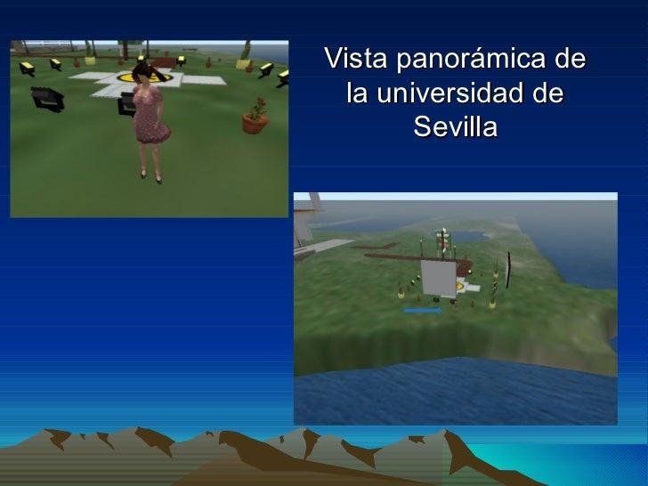 Vista panorámica de  la universidad de        Sevilla