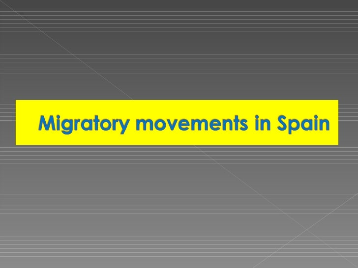 """Presentation from the Spanish partners about """"Migration Movements in Spain""""."""
