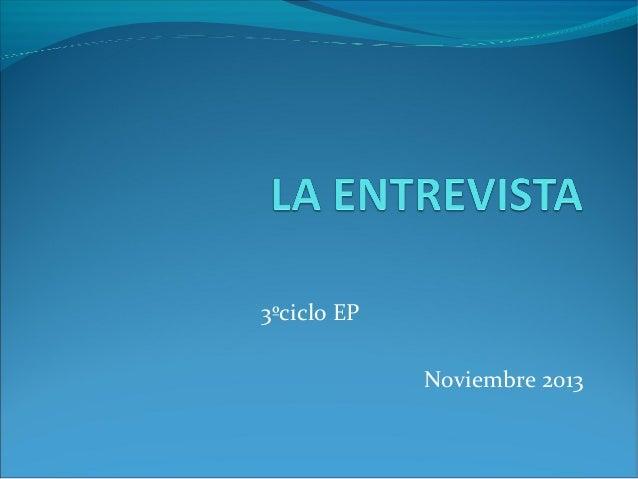 3ºciclo EP Noviembre 2013