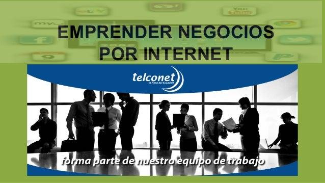 EMPRENDER NEGOCIOS POR INTERNET