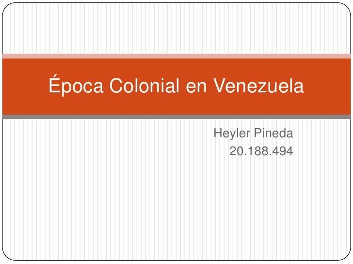 Copia de época colonial en venezuela