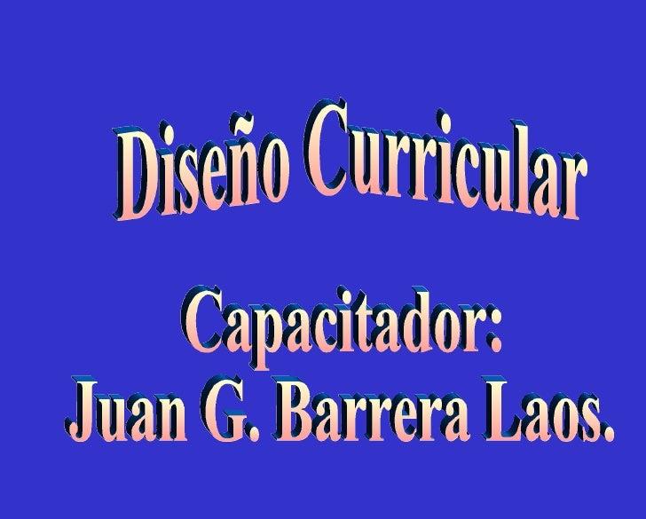 Ponencia dise o curricular primaria y secundaria drec callao for Diseno curricular primaria