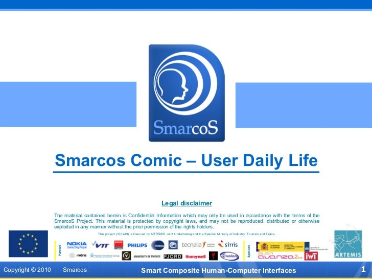 SMARCOS Presentation  Comic: User Daily Life