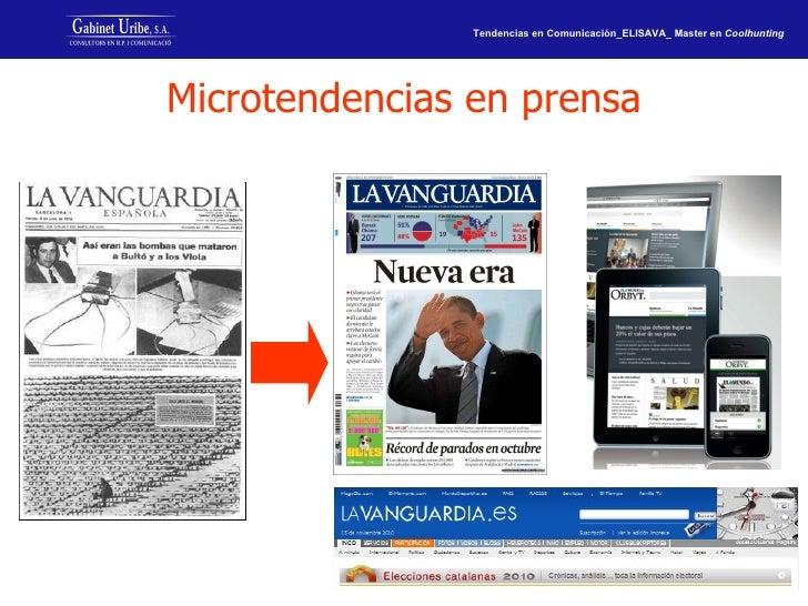 Microtendencias en prensa
