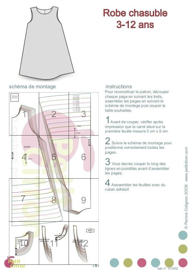 ©PerrineColignon2OO9.www.petitcitron.com tuto n° VI1002 Pour reconstituer le patron, découper chaque page en suivant les t...