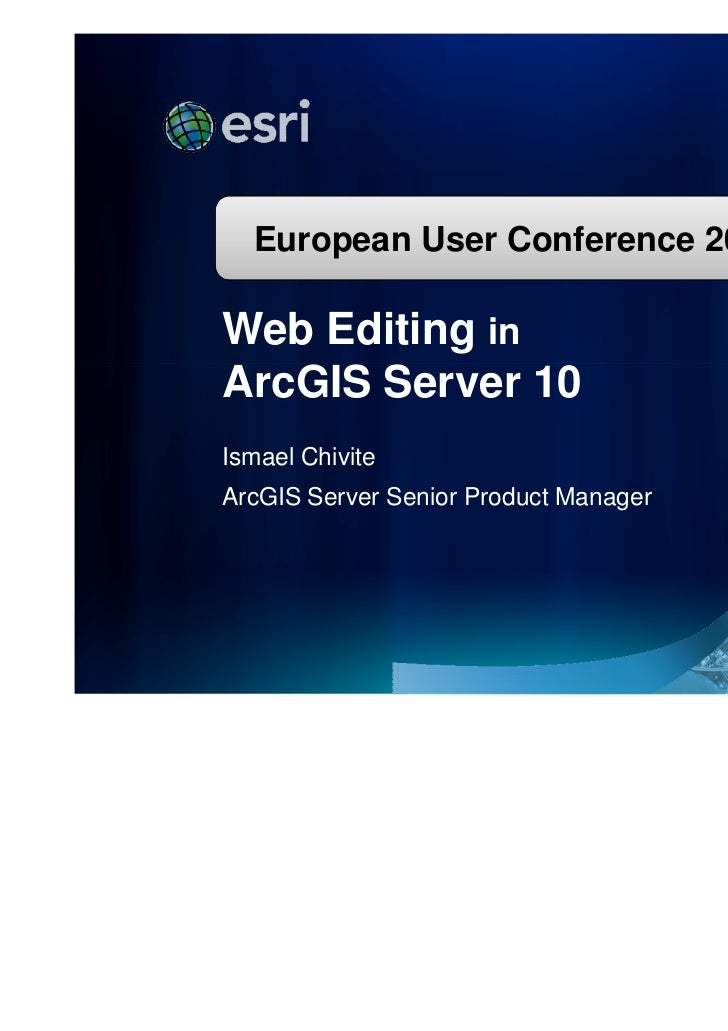 Web Editing in ArcGIS Server