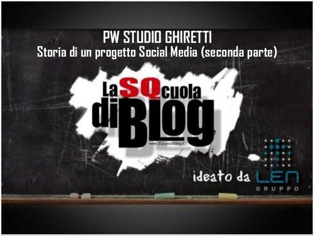 PW STUDIO GHIRETTIStoria di un progetto Social Media (seconda parte)