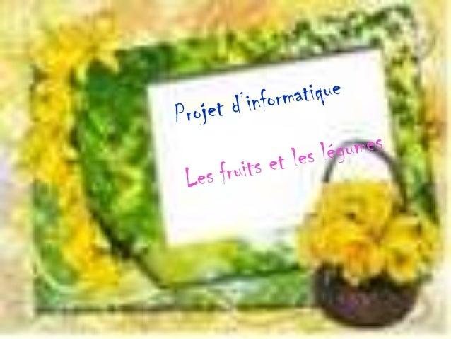 ☻Sommaire ☻1.Fruits ☻2.Légumes ☻3.épices ☻