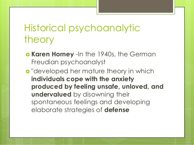 summary of karen horney s theory The adolescent diaries of karen horney based on horney's theory summary horney's adolescent diary reflects a young woman's active struggle with.