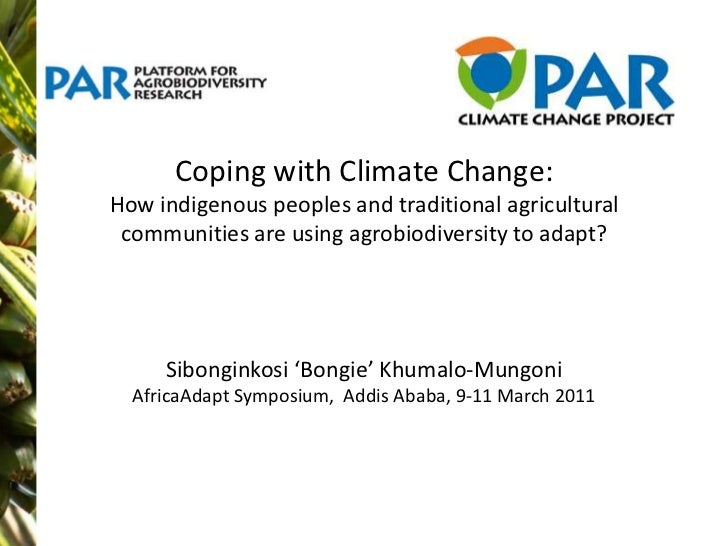 Sibonginkosi Khumalo: The use of agrobiodiversity by indigenous and traditional agricultural communities in adapting to climate change
