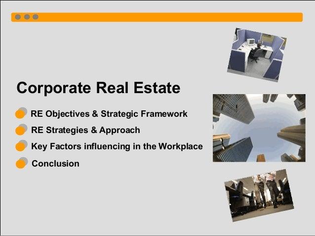 Coporate Real Estate Key Factors