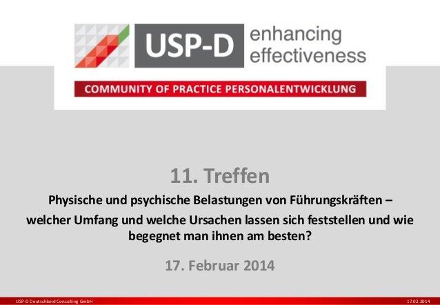 11. Treffen Physische und psychische Belastungen von Führungskräften – welcher Umfang und welche Ursachen lassen sich fest...