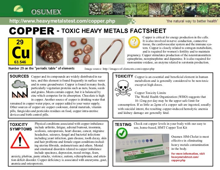 how to get rid of copper toxicity